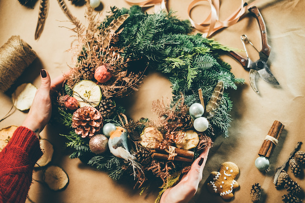 Where to make your own Christmas Wreath in Bath