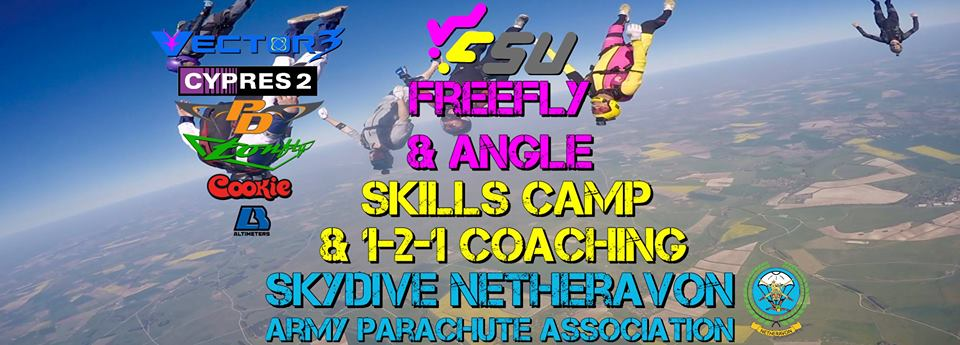 Freefly and Angle Skills Camp & Skills Camp and 1-2-1 Coaching at Skydive Netheravon