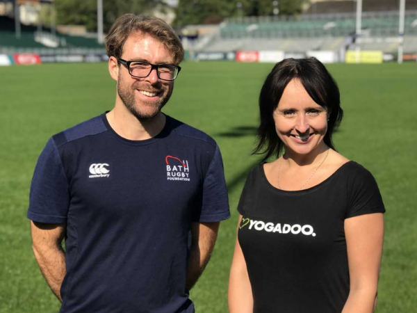 Bath Rugby Foundation has teamed up with award-winning specialist children's yoga company YOGADOO.