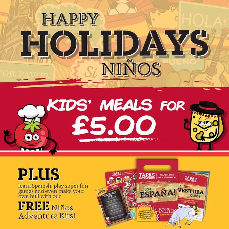 Kids' Meal for £5 at Tapas Revolution
