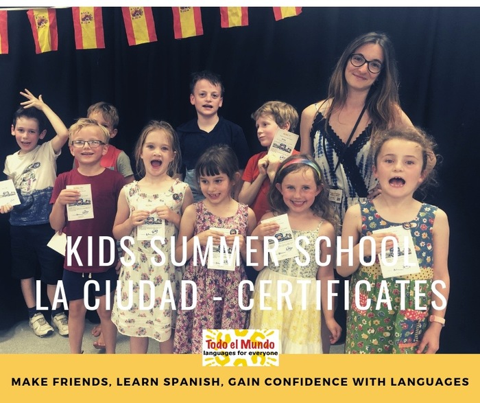 Kids school holidays Spanish workshops