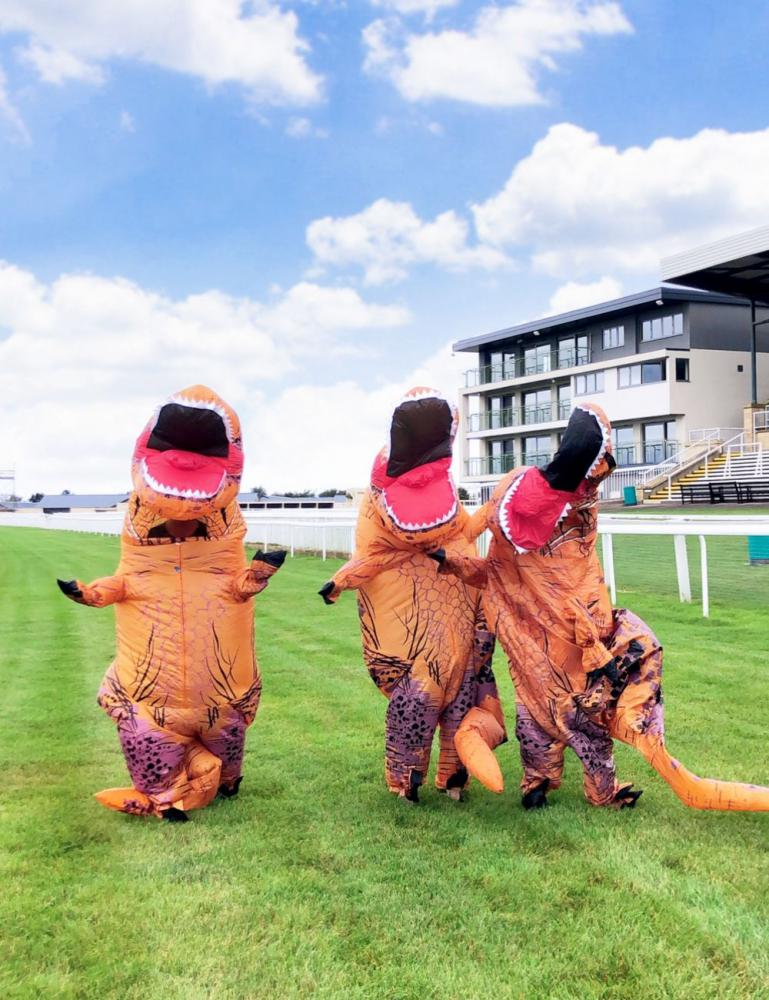 Inflatable T-Rex's to race at Bath Racecourse's Dino Family Raceday