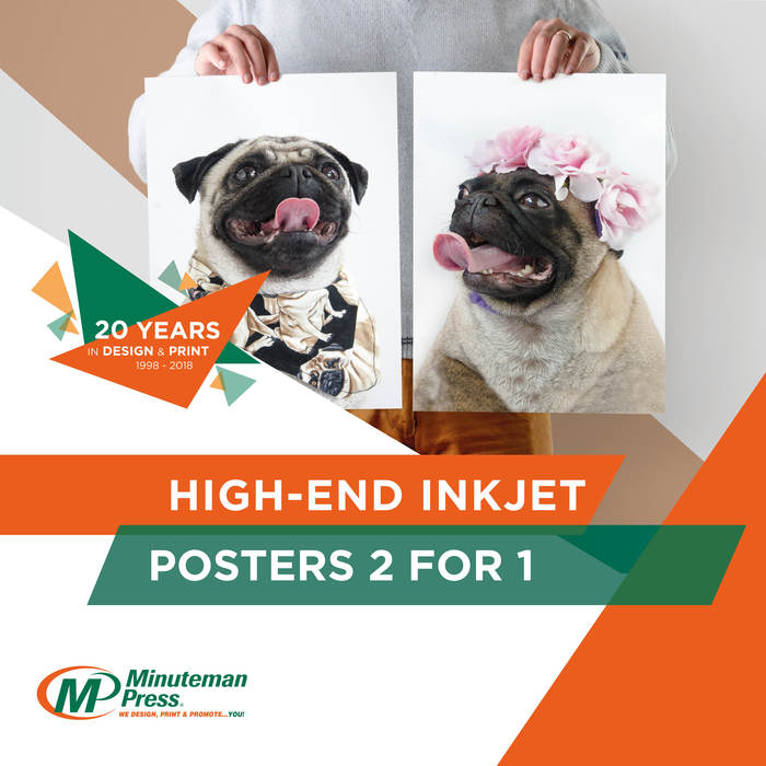 High-End Inkjet Posters 2 for 1