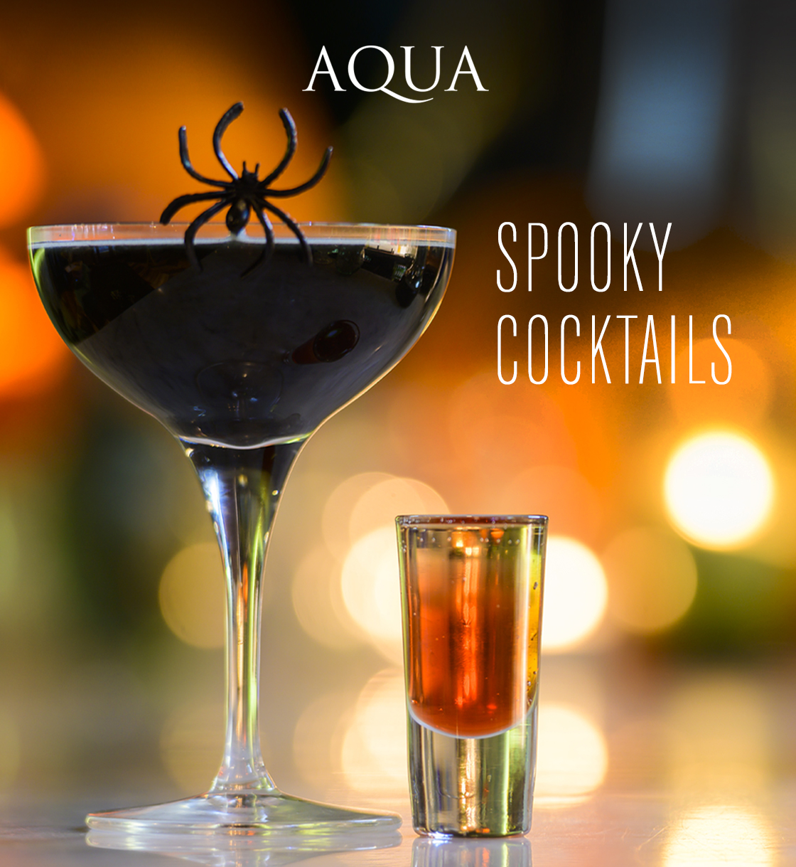 2 For 1 on AQUA'S Spooky Cocktails
