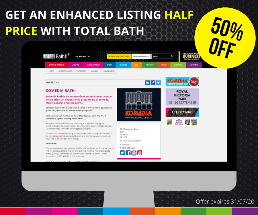 50% Off Enhanced Listings at Total Guide to Bath