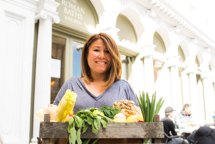 Ping Coombes at The Roman Baths Kitchen