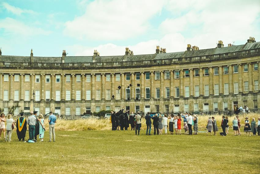 SNAPPED: University of Bath Post-Graduation Celebrations at Royal Crescent